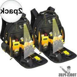 DeWalt DGL523 Lighted Tool Backpack Bag 57-Pockets 2x New