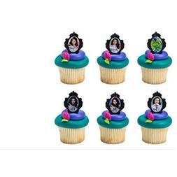 Disney Descendants cupcake rings  party favor cake topper 2