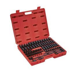 Sunex 3580, 3/8 Inch Drive Master Impact Socket Set, 80 Piec