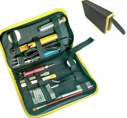 Electric Soldering Irons Kit Storage Bags Adjustable Equipme