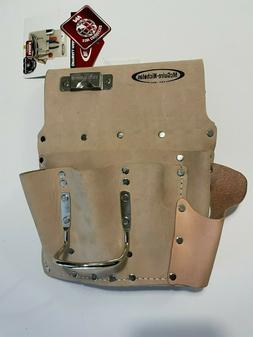 Electrician Tool Bag 12 pockets SADDLE LEATHER Waist Pouch b