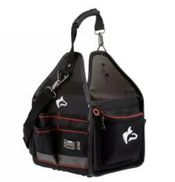 Husky Electrician Tool Bag w/ Removable Driver Wall 10'' Sto