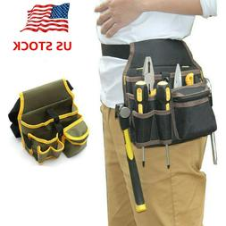 Electrician Waist Pocket Belt Tool Pouch Bag Canvas Hardware