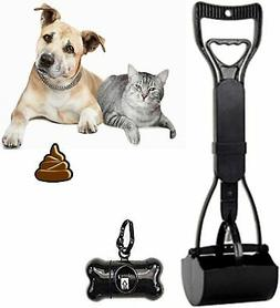 Foldable Dog Pooper Scooper with Long Handle, Waste Pickup T