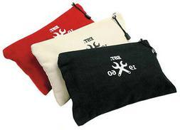 "Westward 12"" General Purpose Tool Bag, 3 Piece, Black/Red/Wh"