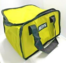Genuine New RYOBI Large Tool Bag Green & Black 7x9x12 Inch
