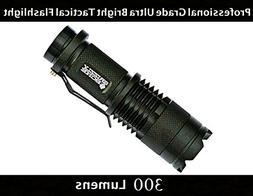 NEW Professional Grade Ultra Bright Tactical Flashlight 300