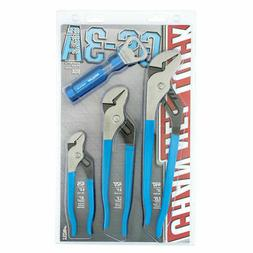 CHANNELLOCK GS-3A 2 Piece Tongue and Groove Set with Bottle