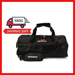 "Hardware Tool Bag, 18"" Close Top Storage Tool Bag, Black/Red"