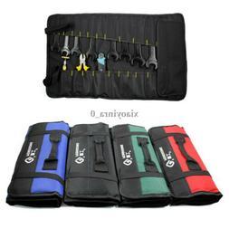 Hardware Tool Storage Bag Roll Plier Screwdriver Spanner Pou