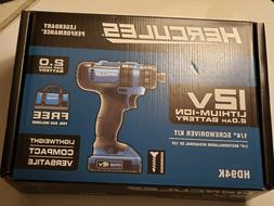 "Hercules HD94K 1/4"" Screwdriver Kit 12V      Brand New w/too"
