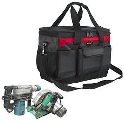 Heavy Duty Tool Bags with Wear-Resistant Hard Bottom Waterpr