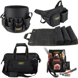 Heavy Duty Electrician Tool Bag Waist Pouch Roll Up & Bucket