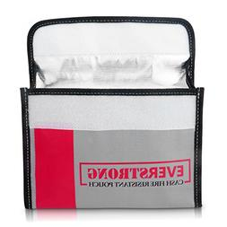 HEAVY DUTY Fire Resistant Safe Bag for Cash Documents Jewelr