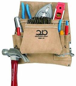 Custom LeatherCraft I823X 8-Pocket Carpenter s Nail Tool Bag