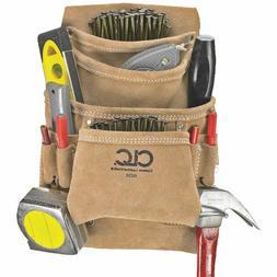 CLC I923X Nail/Tool Bag, 10 Pocket, Tan Suede