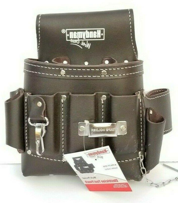 10 pkt Electrician Tool Bag Pouch + Waist Tool Belt - BOTH O