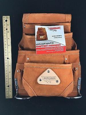 10 pkt Leather Electrician pouch -