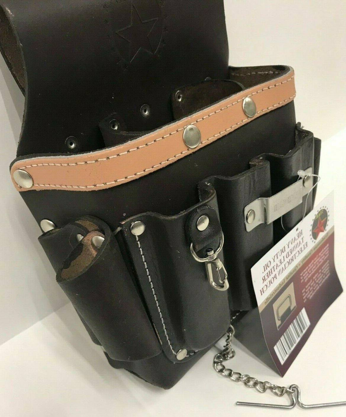 10 Bag Pouch Tanned Leather +Top Belt