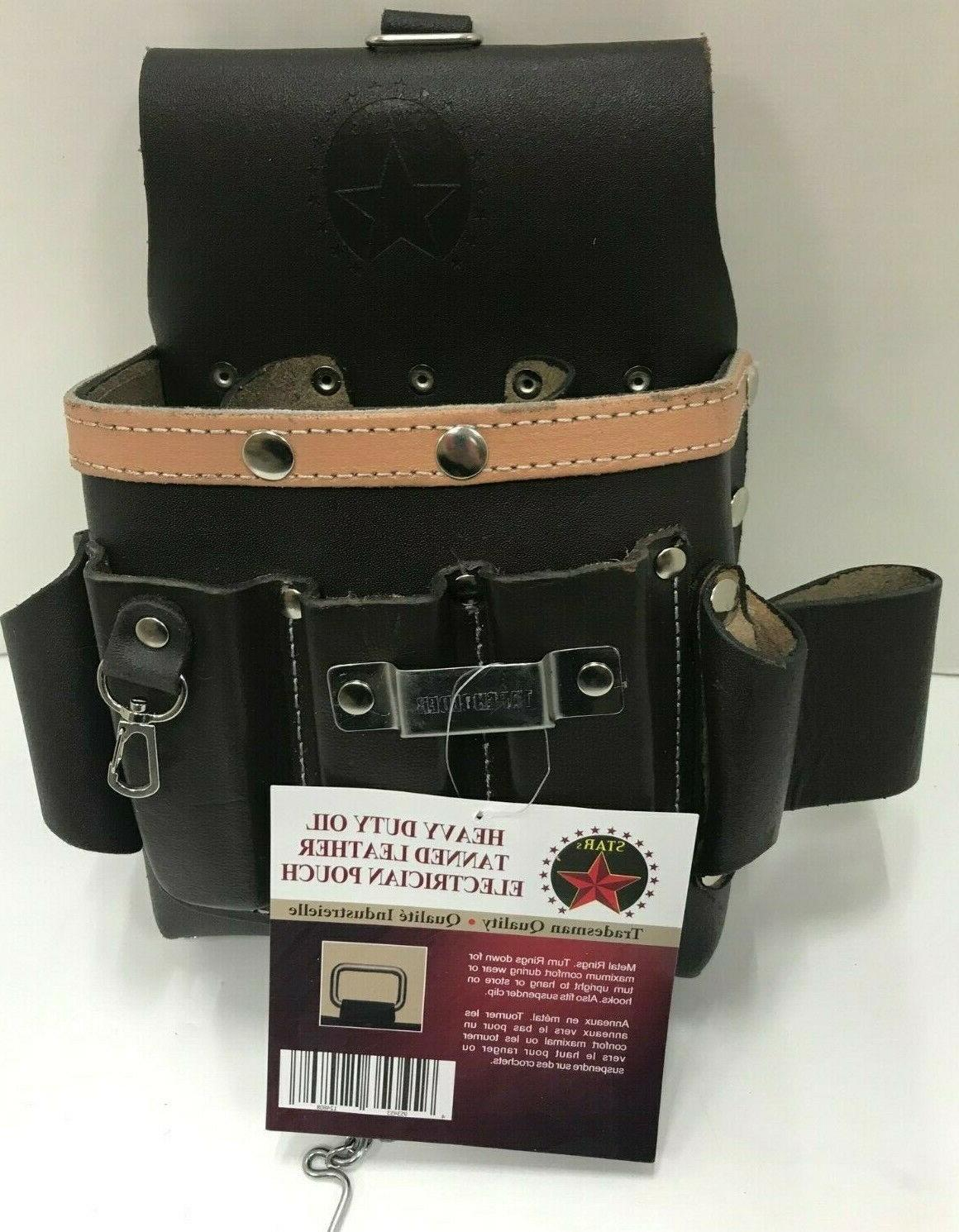Bag Pouch Oil Leather Belt