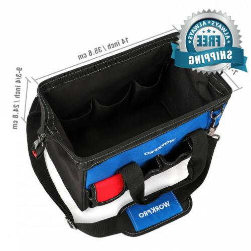 WORKPRO 14-inch Multi-pocket Shoulder