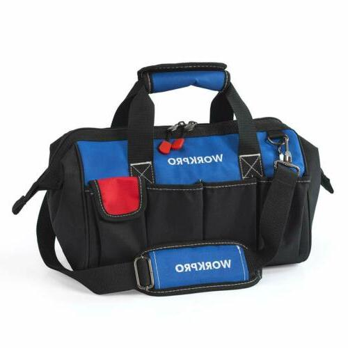 WORKPRO 14-inch Tool Bag /Multi-pocket Tool Organizer with A