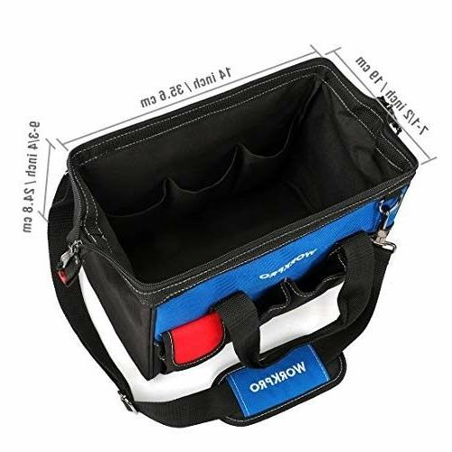 WORKPRO 14-inch Tool Multi-pocket Adjustable S