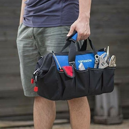 WORKPRO 14-inch Tool Bag, Multi-pocket Adjustable S