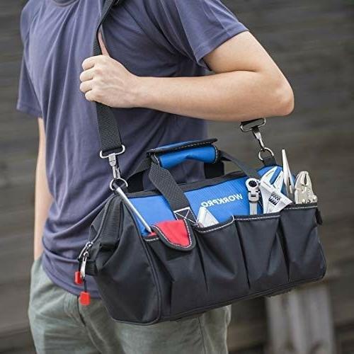 WORKPRO Bag, Multi-pocket Tool Organizer with Adjustable Shoulder S