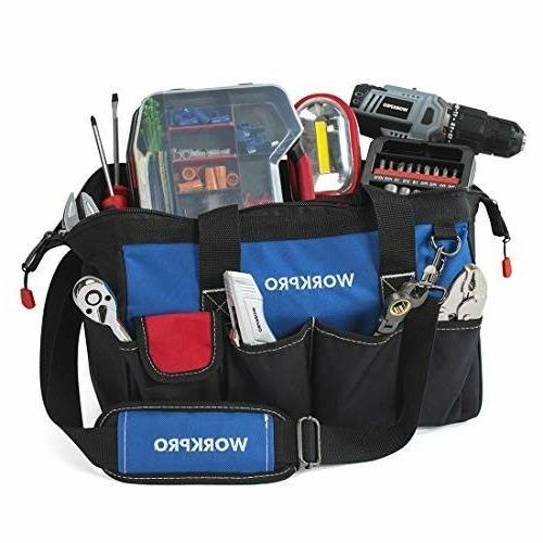 WORKPRO Tool Multi-pocket Tool Organizer Adjustable