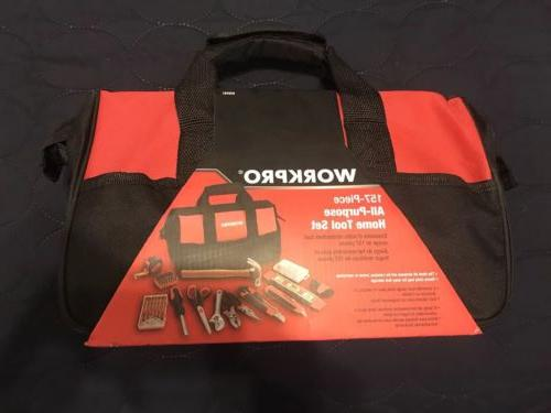 WORKPRO 157-Piece Household Tool Set with Tool Bag.  New