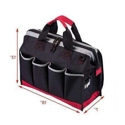 16-inch Bag, Pockets Wide Mouth Tools Duty Bag