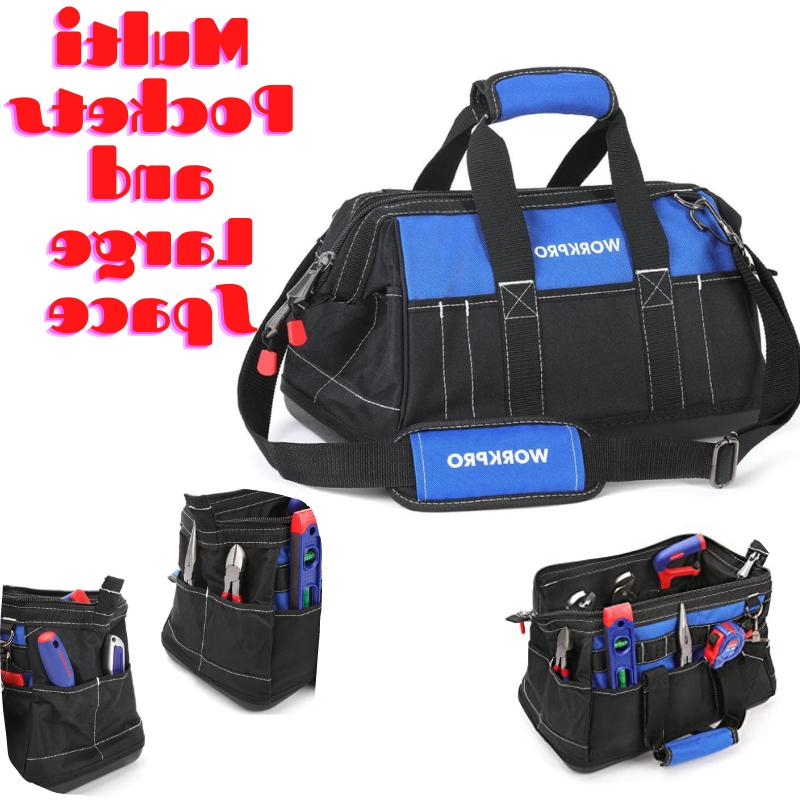 16 inch wide mouth tool bag