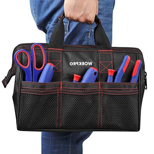 WORKPRO 2-Piece Bag Combo 13-inch &18-inch, Zip-Top, Wide Open