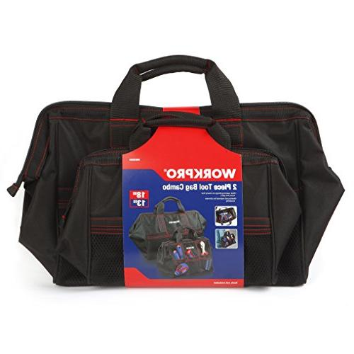 WORKPRO 2-Piece Tool Bag Combo 13-inch &18-inch, Wide
