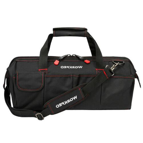 WORKPRO Zipper Tool Bag Duty Carry Work Storage Case
