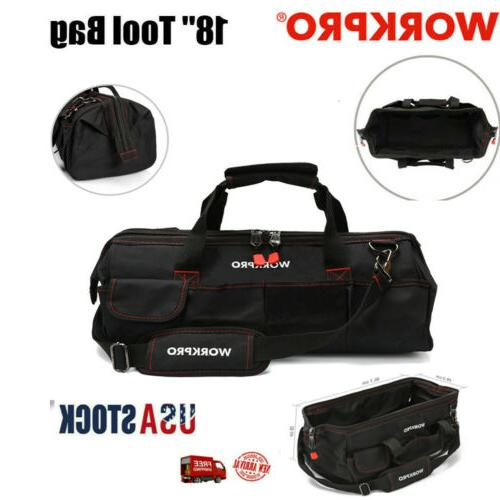 18 zipper tool bag wide mouth heavy