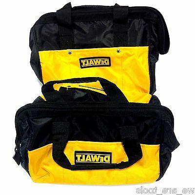 """2 New Dewalt 12"""" Tool Bag/Case For Drill, Saw, Grinder,Batte"""