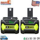 2 Pack New P108 Battery For RYOBI P122 4.0Ah 18V ONE PLUS LI