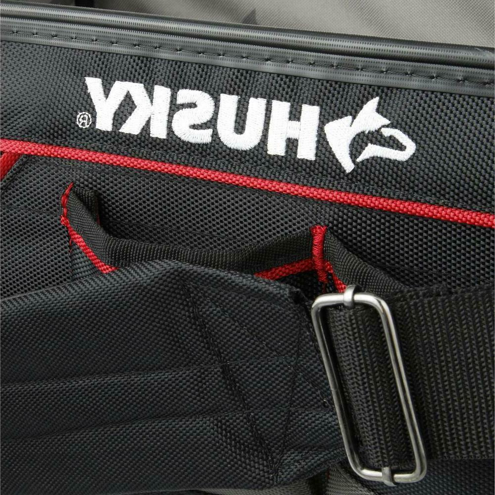 Husky 20 Inch Pro Tool Tote Bag With Removable Tool Wall Rotating Padded Handle