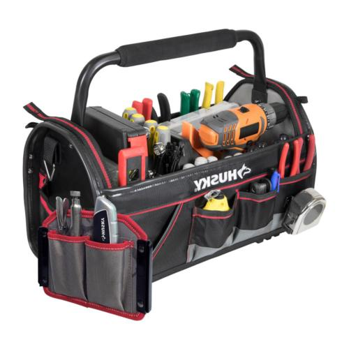 20 in. Pro Tool Storage Bag Tote Rotating Handle Shoulder St