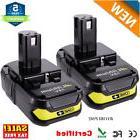 2X P102 For 18V Max Lithium Battery Ryobi ONE Plus P103 P104