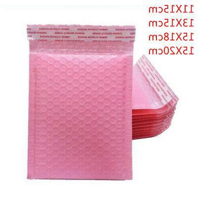 50pcs Bubble Envelopes Mailer Padded 4 Size & Colored Bags P
