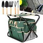 7 PCS Garden Tool Bag Set Folding Stool Tool Gardening 5Stai