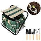7 Piece Garden Tool Stool Set Folding with Tool Bag and 5 St