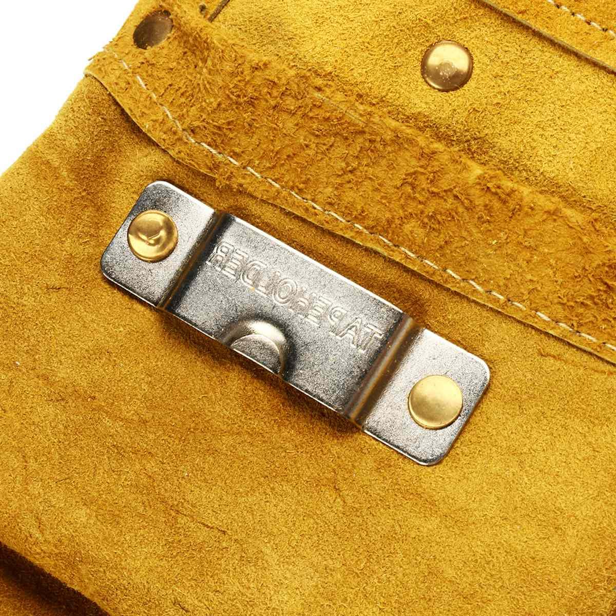 8/14 Pockets Leather Waist <font><b>Tool</b></font> Belt Pouch Screwdriver Repair Holder Portable Accessories