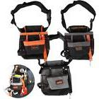 8 Pocket Tool Belt Electrician Tool Pouch W/Adjustable Belt