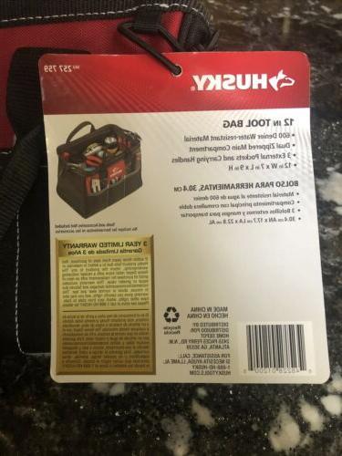 BRAND NEW Husky 12 in. Tool Bag Storage Organizer Carrying C