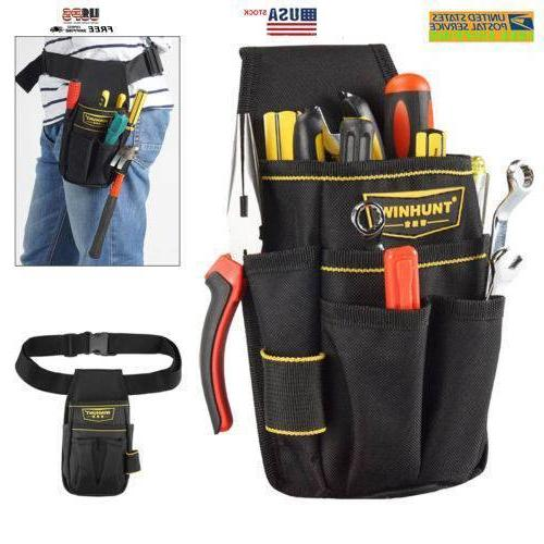 Black Electrician Tool Bag Waist Pocket Pouch Belt Holder Ma