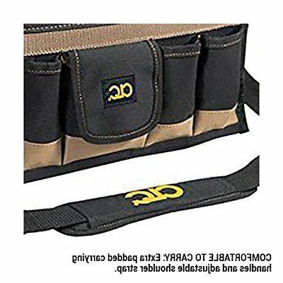 CLC Custom 16-Pocket, 16-Inch Center Tray Tool Bag
